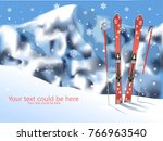 blurred background of mountain... | Shutterstock .eps vector #766963540