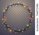 light garland ring | Shutterstock .eps vector #766972486