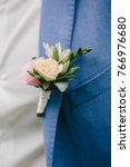 groom boutonniere on the lapel... | Shutterstock . vector #766976680