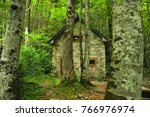 old stone house deep in the... | Shutterstock . vector #766976974