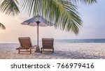 perfect beach view use for... | Shutterstock . vector #766979416