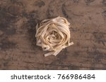 hand made tagliatelle typical... | Shutterstock . vector #766986484