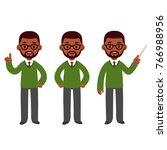 male african american teacher... | Shutterstock . vector #766988956