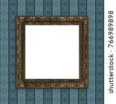 mock up 3d vintage frame... | Shutterstock . vector #766989898