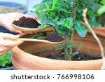 coffee ground  coffee residue... | Shutterstock . vector #766998106