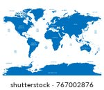 oceanographical map of world... | Shutterstock .eps vector #767002876