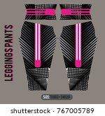 leggings pants fashion vector... | Shutterstock .eps vector #767005789