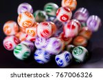 colourful lottery balls in a... | Shutterstock . vector #767006326