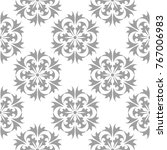 light gray floral design on... | Shutterstock .eps vector #767006983