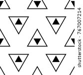 white and black geometric... | Shutterstock .eps vector #767007214