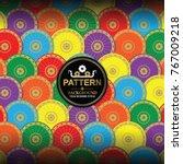 umbrella thai handicraft in...   Shutterstock .eps vector #767009218