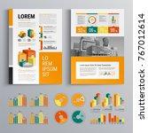 business brochure template... | Shutterstock .eps vector #767012614