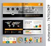 business brochure template... | Shutterstock .eps vector #767012629