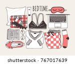 hand drawn  cozy fashion... | Shutterstock .eps vector #767017639