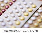 close up oral contraceptive... | Shutterstock . vector #767017978