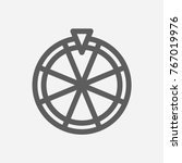 fortune wheel icon line symbol. ...