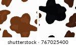vector cow skin print. light... | Shutterstock .eps vector #767025400