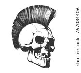 skull punk illustration | Shutterstock .eps vector #767034406