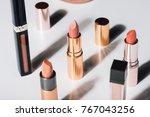 beautiful modern minimal nude... | Shutterstock . vector #767043256