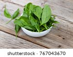 detox product. fresh spinach... | Shutterstock . vector #767043670
