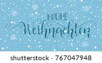 merry christmas hand drawn... | Shutterstock .eps vector #767047948