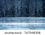 rain fall on the ground in... | Shutterstock . vector #767048308