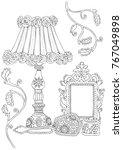interior accessories in the... | Shutterstock .eps vector #767049898