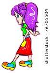 pretty girl | Shutterstock .eps vector #76705504