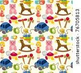 cartoon child toy seamless... | Shutterstock .eps vector #76705813