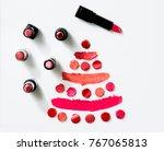lipstick on white background...   Shutterstock . vector #767065813