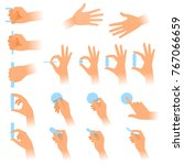 the gestures of human hands... | Shutterstock .eps vector #767066659