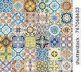 collage of decorative ceramic...   Shutterstock . vector #767068633
