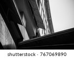 rainy black and white at siam | Shutterstock . vector #767069890