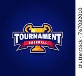baseball tournament logo sport | Shutterstock .eps vector #767082010