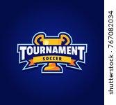 soccer tournament logo sport | Shutterstock .eps vector #767082034