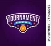 basketball tournament logo sport | Shutterstock .eps vector #767082058