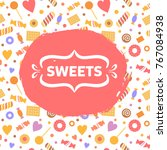 art background with candy...   Shutterstock .eps vector #767084938