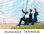 successful asian business man... | Shutterstock . vector #767090530