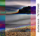 glitched illustration. random... | Shutterstock . vector #767091460