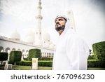 arabian man at sheikh zayed... | Shutterstock . vector #767096230