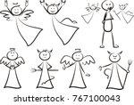 angel and devil   vector... | Shutterstock .eps vector #767100043