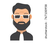 the young man with a beard in... | Shutterstock .eps vector #767100958