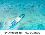 beautiful kayak boats in the... | Shutterstock . vector #767102509