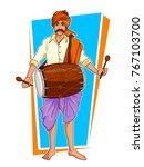 illustration of happy pongal... | Shutterstock .eps vector #767103700