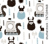 childish seamless pattern with... | Shutterstock .eps vector #767104468