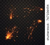 fire sparks set | Shutterstock .eps vector #767106454
