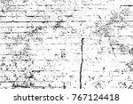 grunge black and white pattern. ... | Shutterstock . vector #767124418