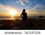 Panorama View Of Silhouette...