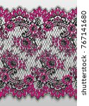 seamless vector black and pink... | Shutterstock .eps vector #767141680