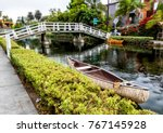 Venice Canals  White Bridge An...
